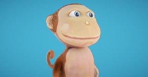 3D monkey pet model