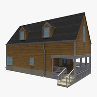 bahamas cottage house 1 3D model