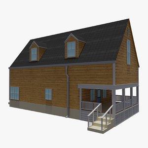 bahamas cottage house 1 3D model