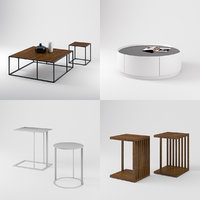 set different sofa tables 3D