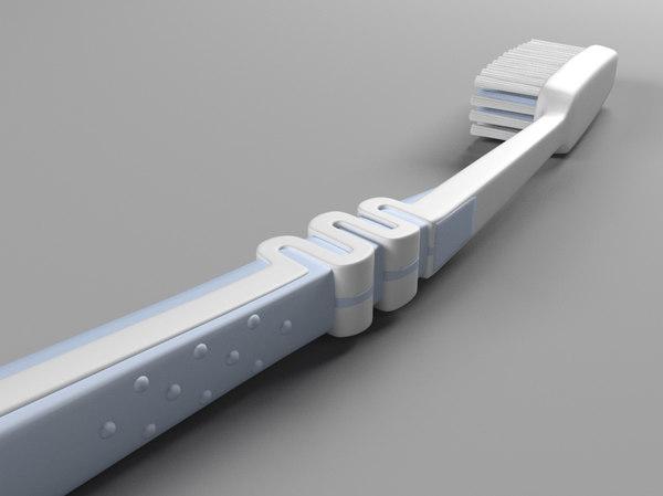 human teeth brush 3D model