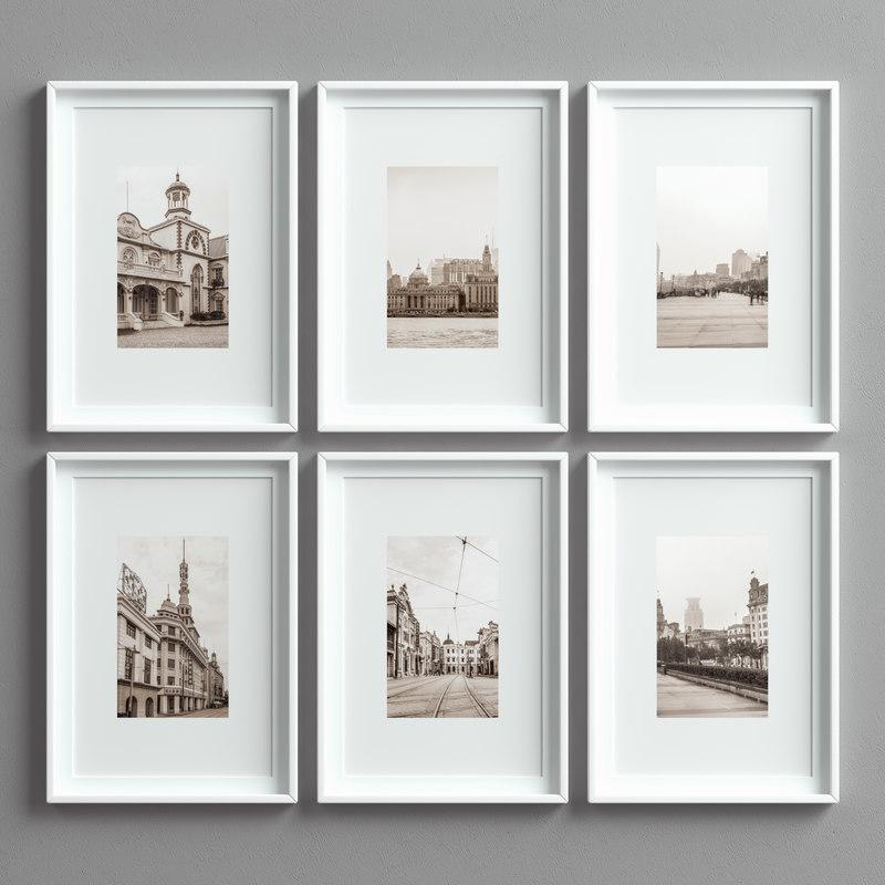 picture frames set -15 3D