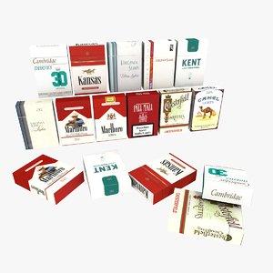 3D packs cigarettes