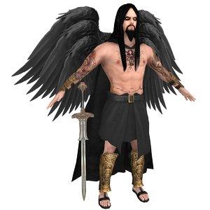 angel fallen 3D model