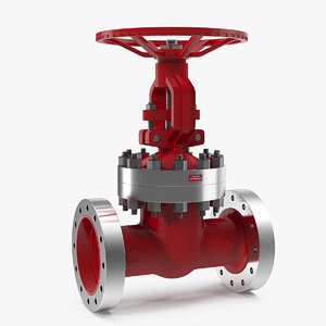 3D wedge gate valve