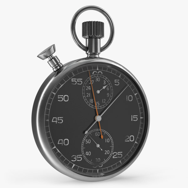 vintage stopwatch generic 3D model