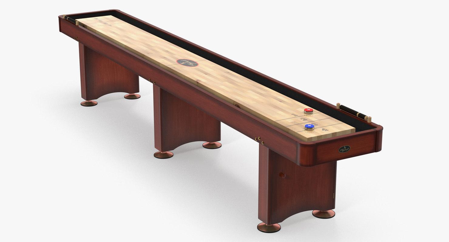 shuffleboard table 3D model