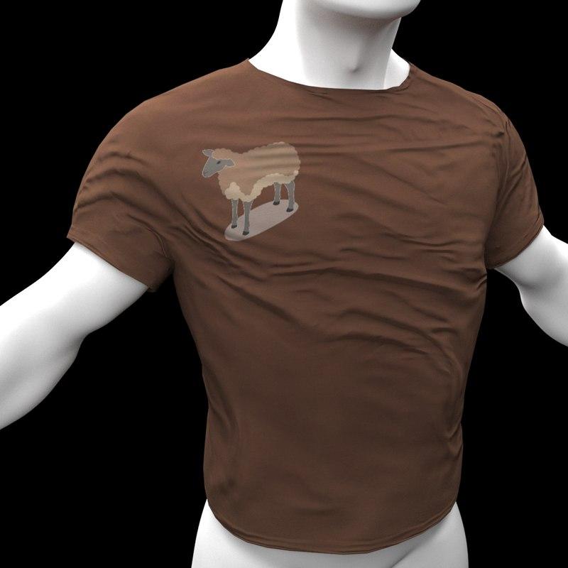 3D model t-shirt polys