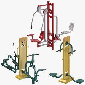 street fitness equipment model