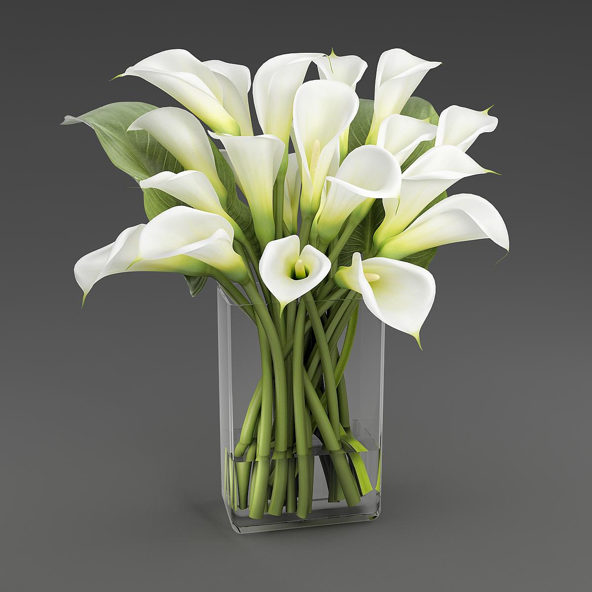Bouquet Calla Lilies 3d Model Turbosquid 1296709