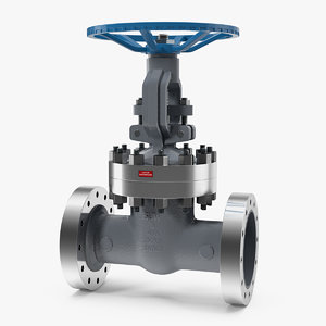 3D model stem resilient wedge gate valve