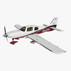 private plane cessna ttx 3D model