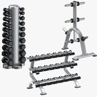 3D dumbell racks weight plate