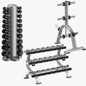 3D dumbell racks weight plate