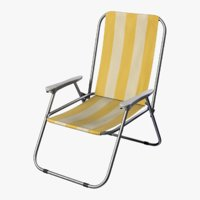 3D model camping lounge outdoor chair