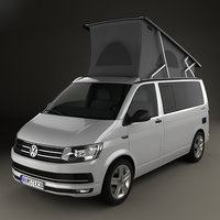 volkswagen transporter california 3D model