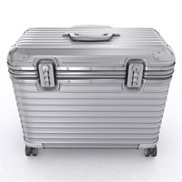 3D model aluminium trolley case
