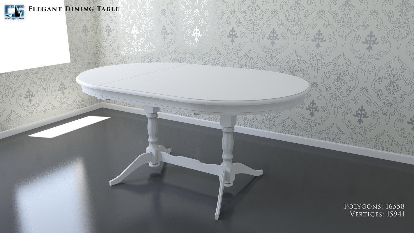 3D elegant dining table model