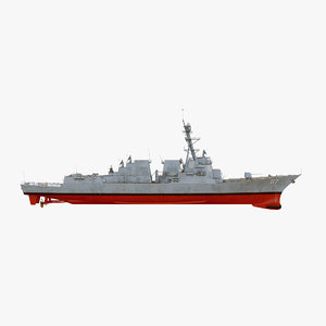 3D model uss paul ignatius