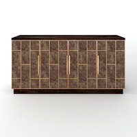 3D neils four-door credenza model