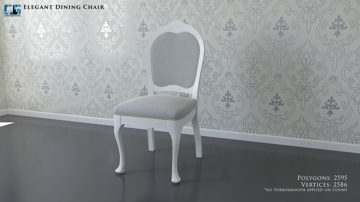 elegant upholstered chair 3D model
