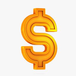 dollar icon 3D model