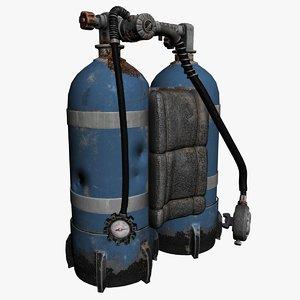 3D diving equipment model