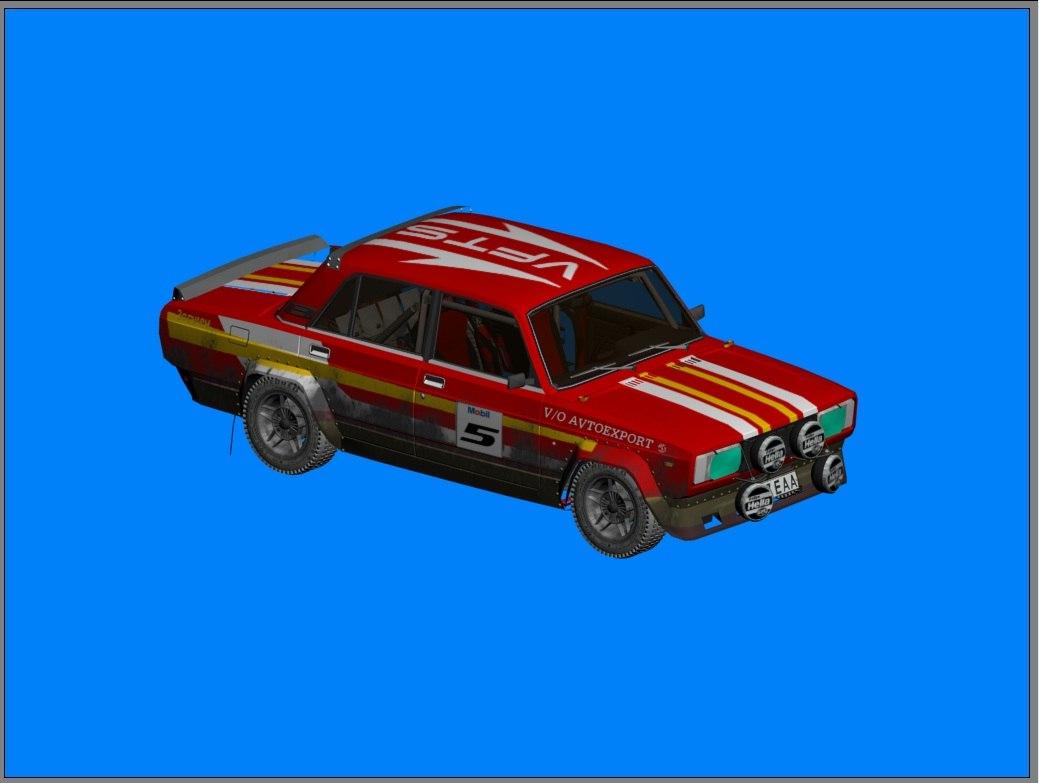3D vaz 2105 rally vfts model