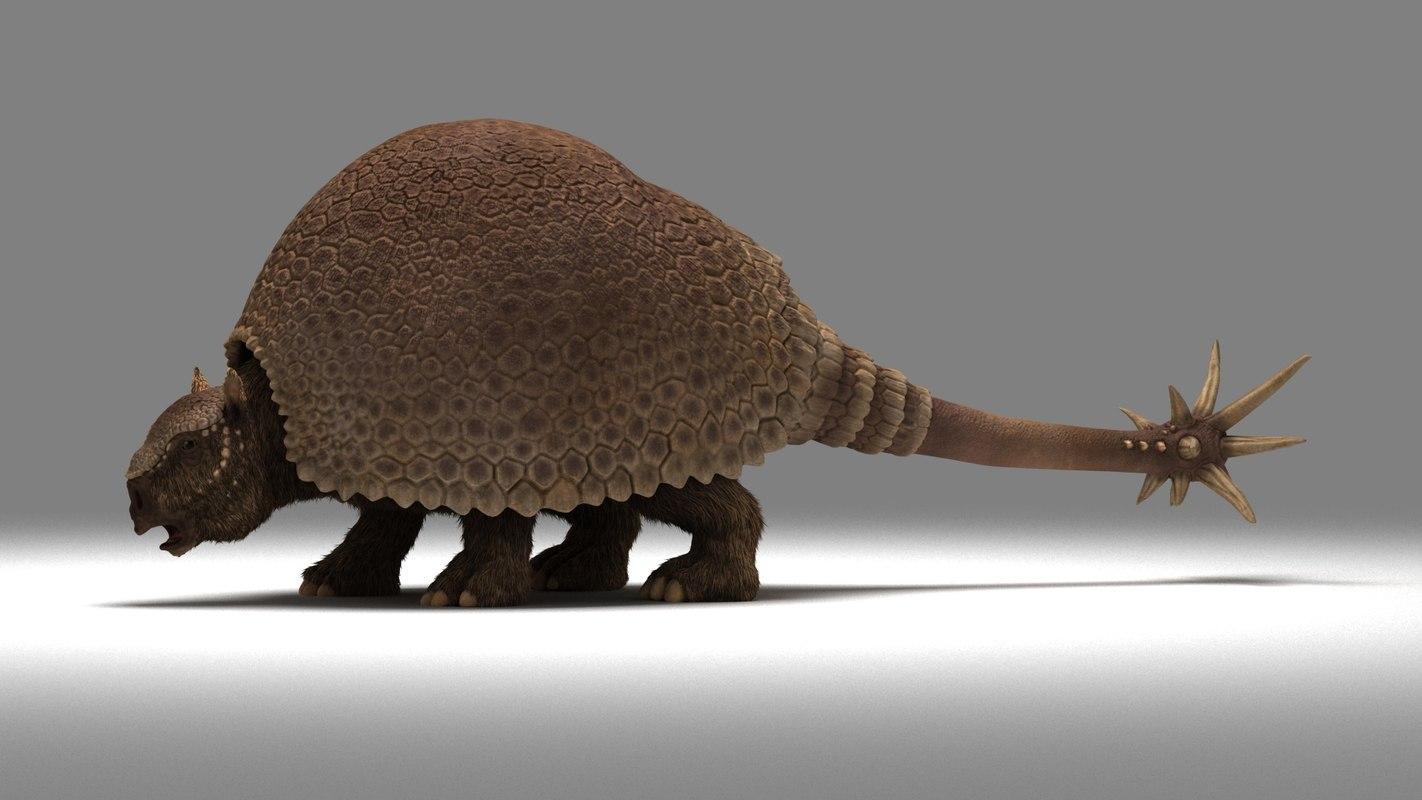 3D model doedicurus extinct ice