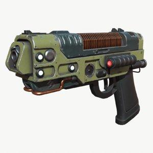 sci-fi blaster 3D