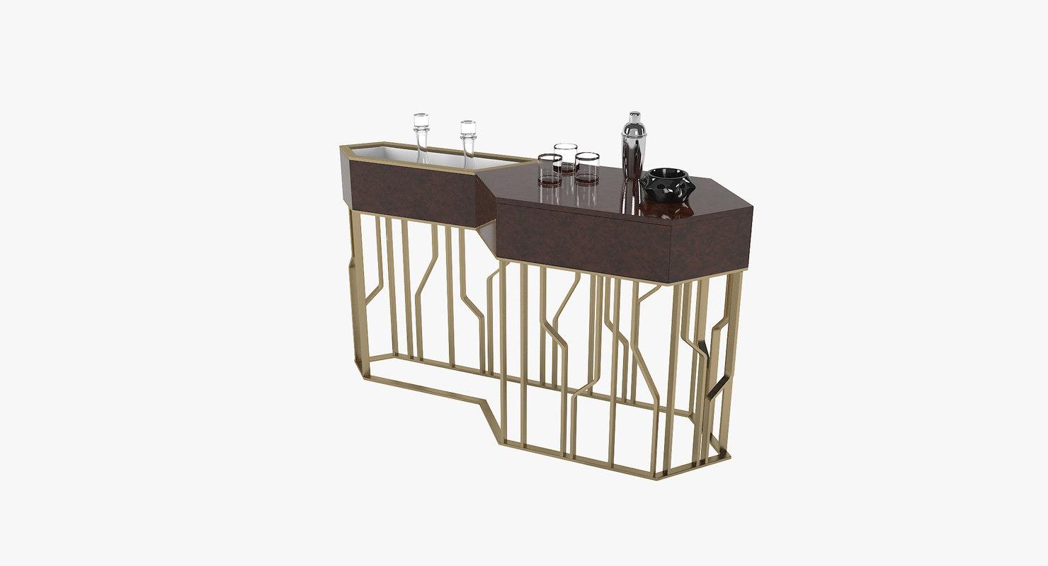 longhi bar console 3D model