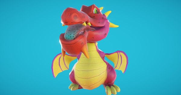baby dragon character 3D model