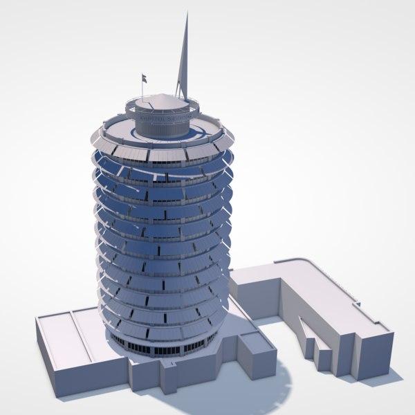 3D capitol records building model