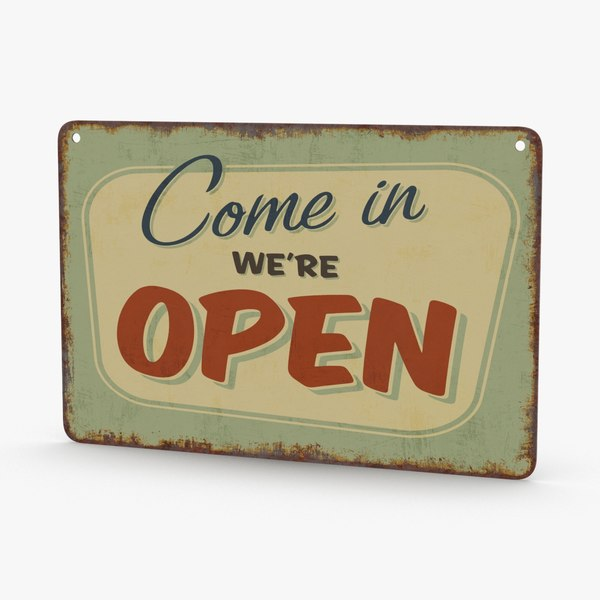 vintage-open-closed-sign-01 3D