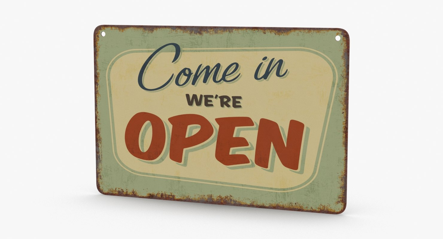 vintage-open-closed-sign-01 3D