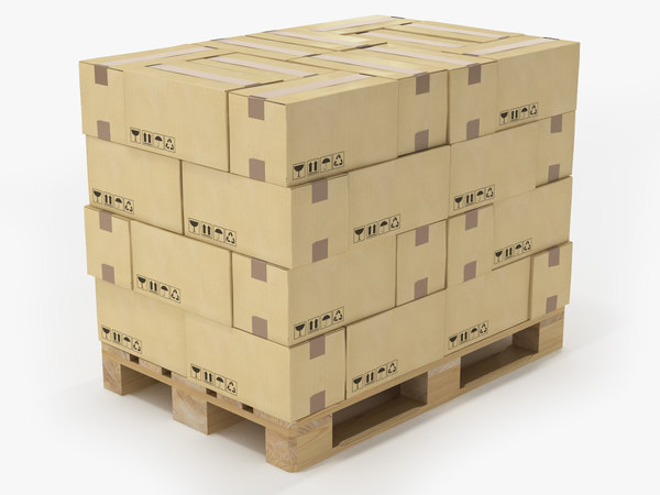 pallet boxes 3D model