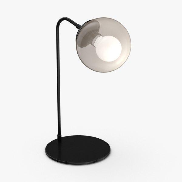 3D modern-table-light---on model