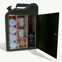 3D model jerry can-bar