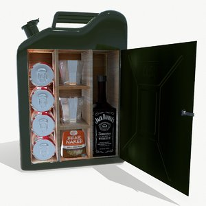 3D model jerry can-bar