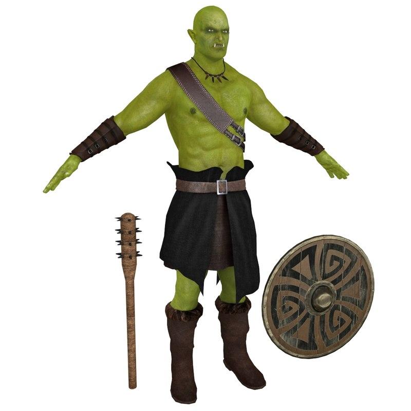 3D orc warrior