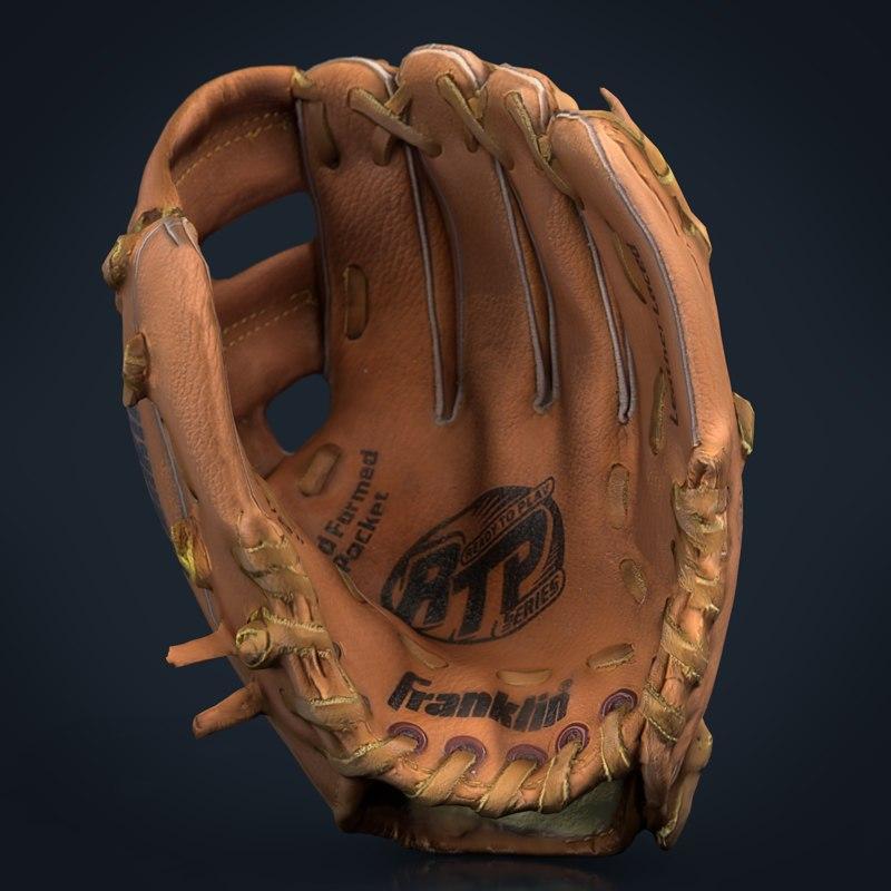 baseball glove 2 s 3D model