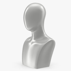 white egghead male display 3D
