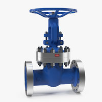 Rubber Seat Gate Valve Full Bore 3D Model
