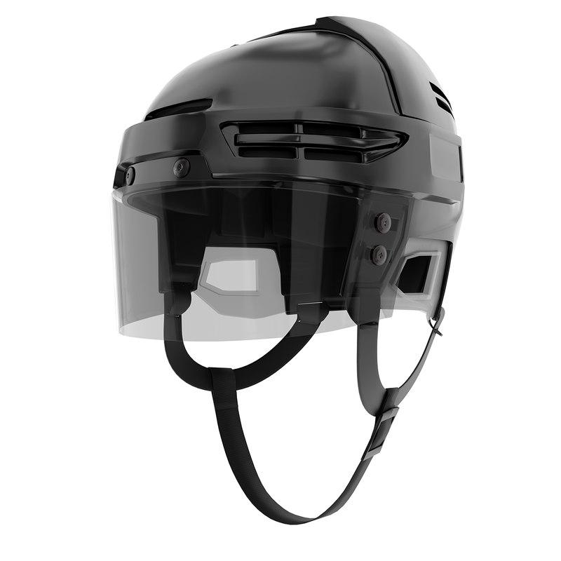 ice hockey helmet glass 3D model