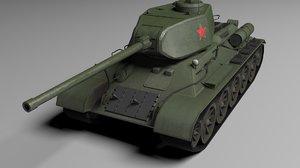 3D t-34-85 model