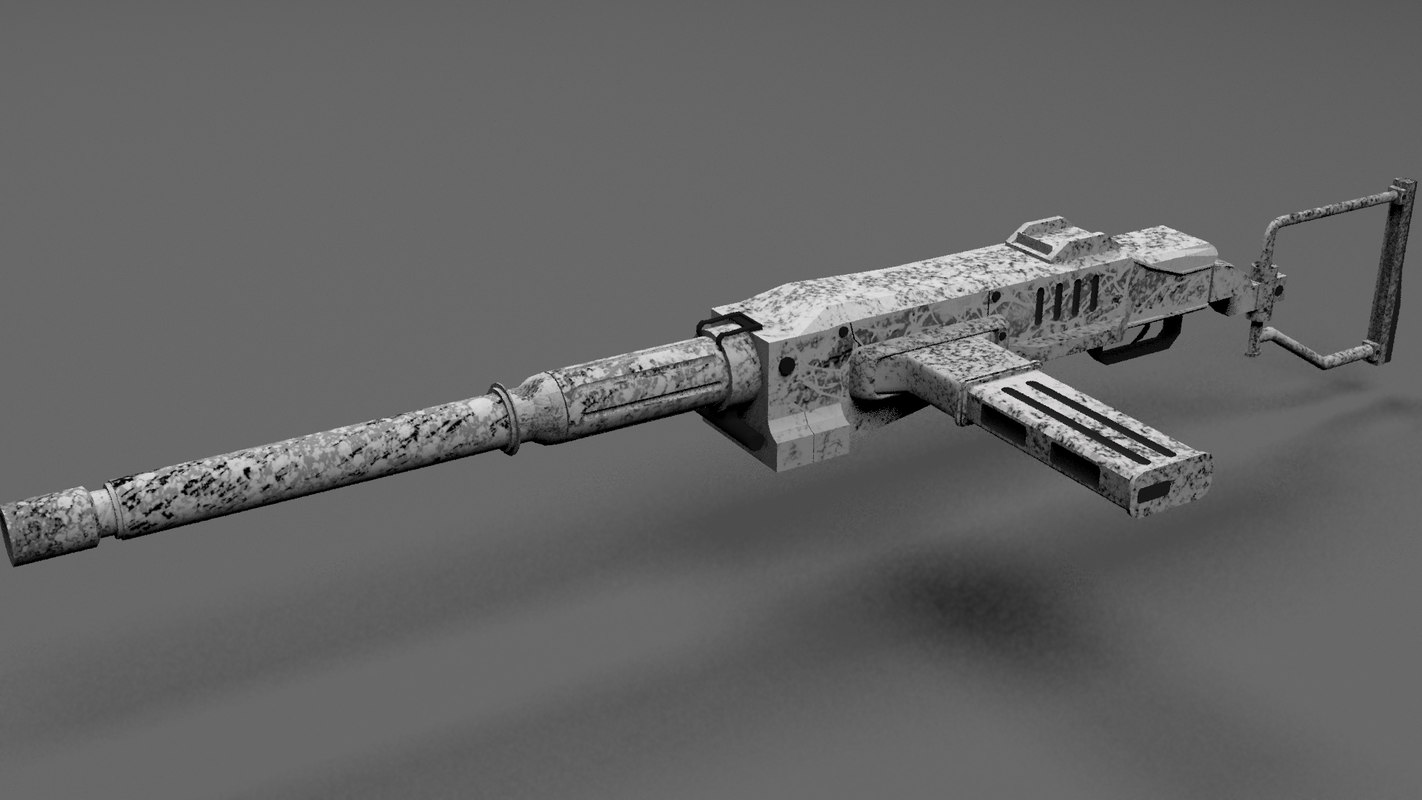 3D model submachine gun