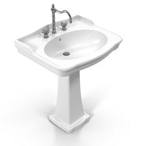 sink white 3D model