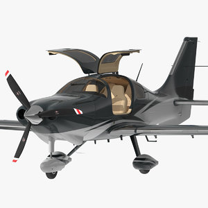 private plane 4 seater 3D model