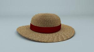 straw hat 3D
