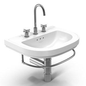 sink white model